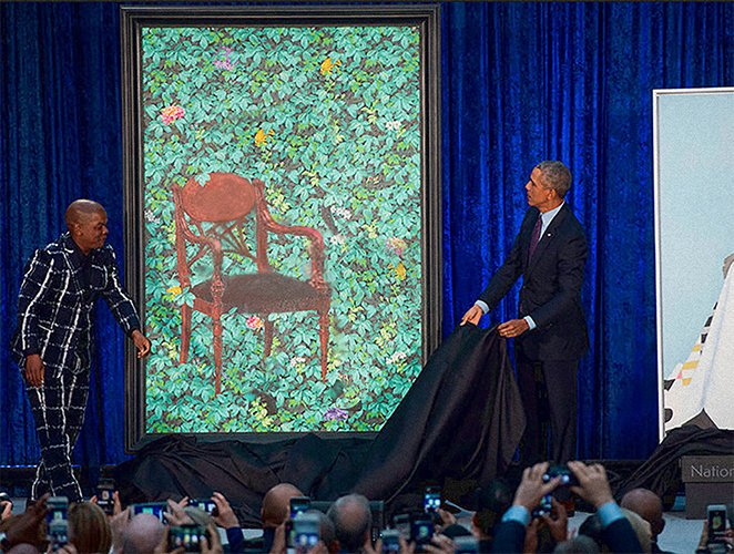 Obama Portrait Unveiled At Smithsonian Museum | funny